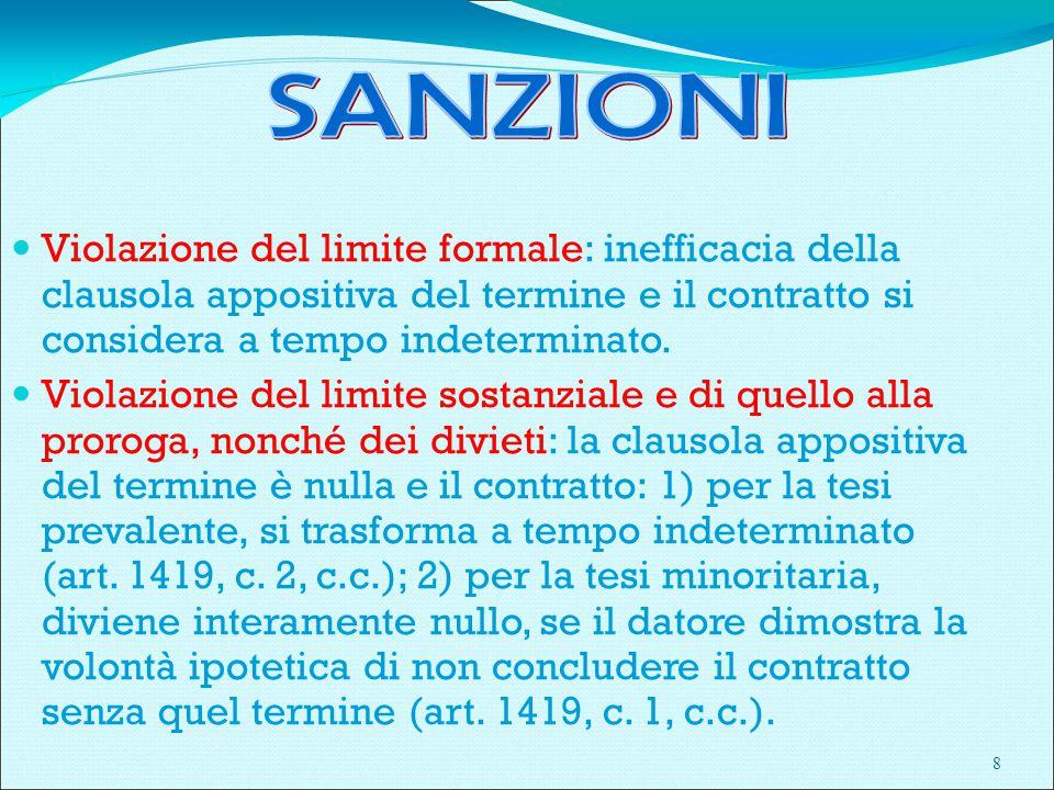 29 ARTT. 41 ss. D.LGS. n. 276/2003