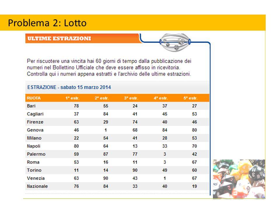 Scommettereste sull'uscita del 5 sulla ruota di Palermo o del 53 sulla ruota di Roma.