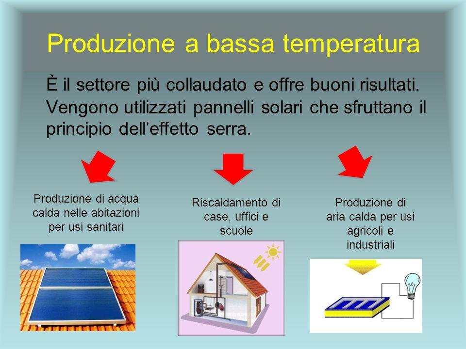 Produzione a bassa temperatura È il settore più collaudato e offre buoni risultati.