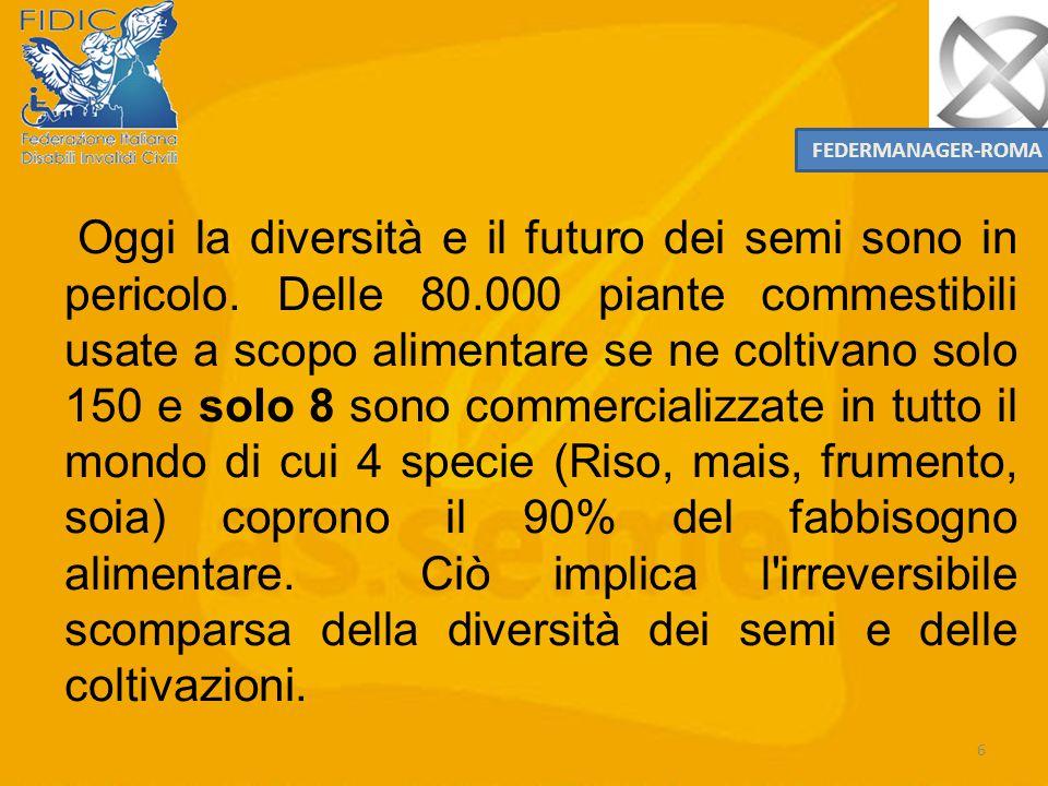 5 La collettività urbana e agricola ha il dovere/responsabilità di proteggere i semi per tramandarli alle generazioni future. Dal momento in cui noi s