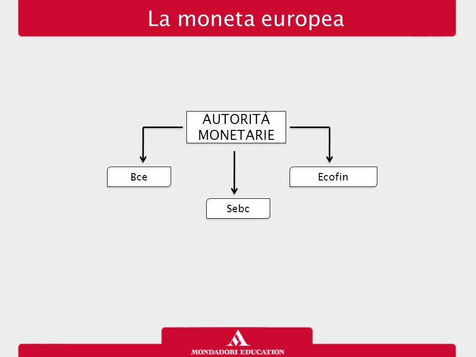 La moneta europea AUTORITÀ MONETARIE Bce Sebc Ecofin