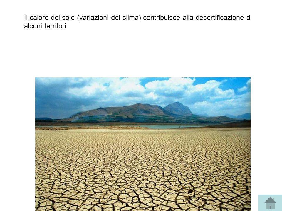 Il calore del sole (variazioni del clima) contribuisce alla desertificazione di alcuni territori