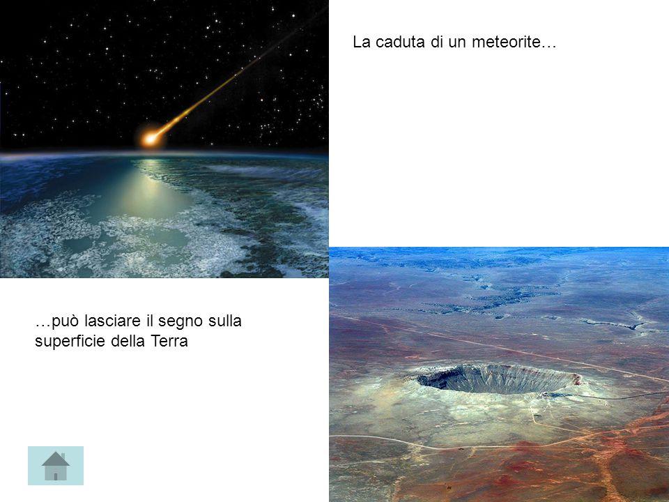 La caduta di un meteorite… …può lasciare il segno sulla superficie della Terra