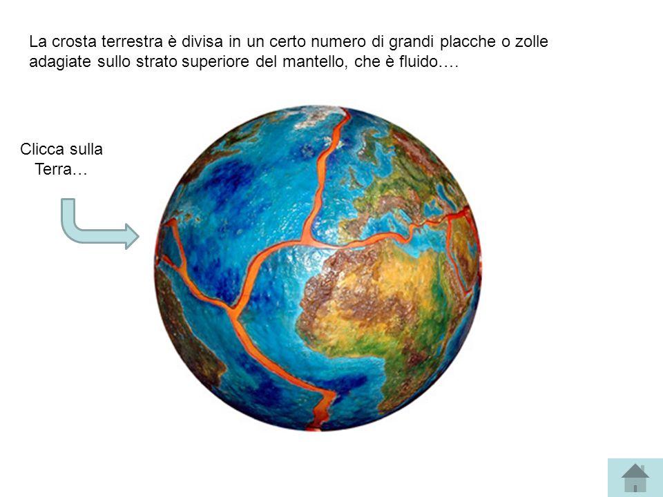 La crosta terrestra è divisa in un certo numero di grandi placche o zolle adagiate sullo strato superiore del mantello, che è fluido….
