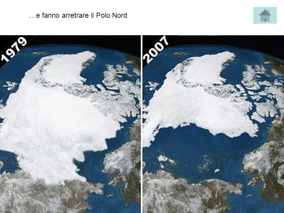 …e fanno arretrare il Polo Nord
