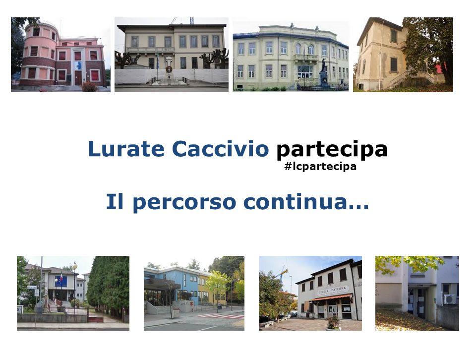 Lurate Caccivio partecipa Il percorso continua… #lcpartecipa