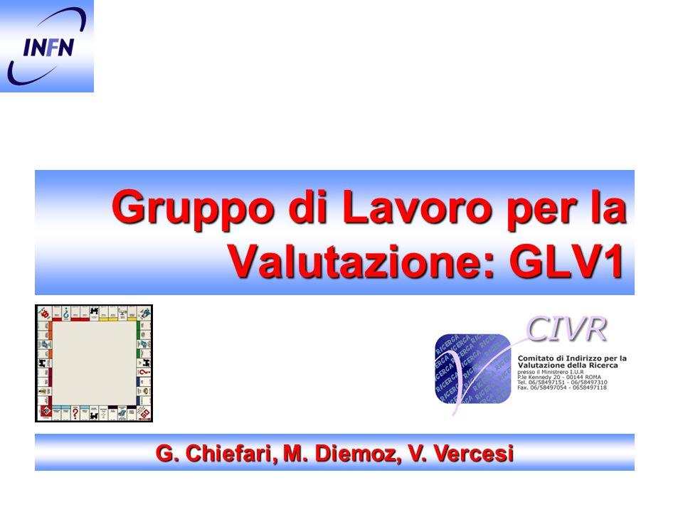 Gruppo di Lavoro per la Valutazione: GLV1 G. Chiefari, M. Diemoz, V. Vercesi