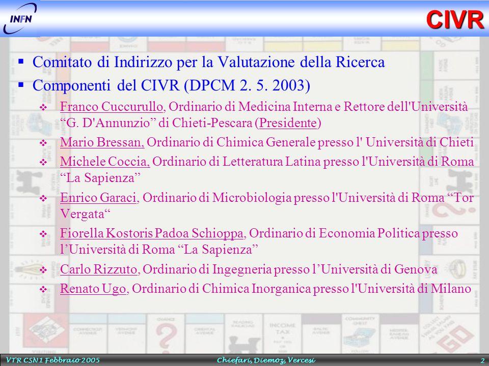 VTR CSN1 Febbraio 2005 Chiefari, Diemoz, Vercesi 3 Il Percorso di Gioco