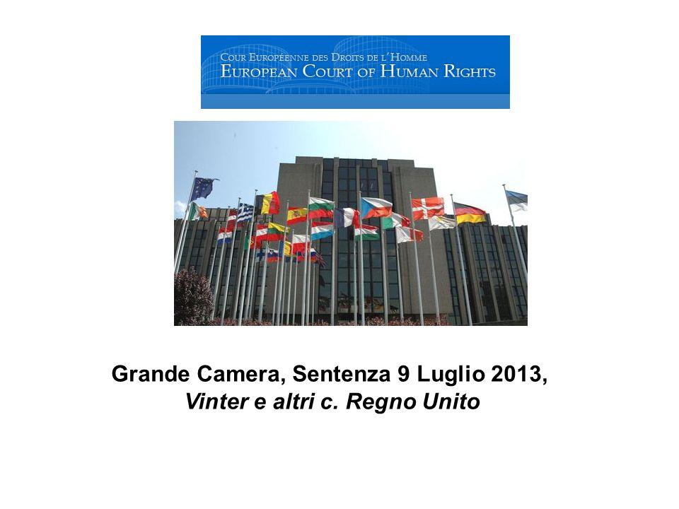 Grande Camera, Sentenza 9 Luglio 2013, Vinter e altri c. Regno Unito