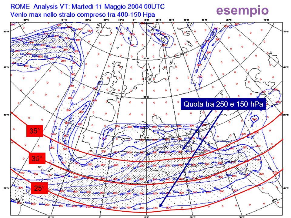 69 30° Quota tra 250 e 150 hPa 25° 35° esempio