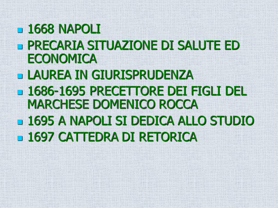 1668 NAPOLI 1668 NAPOLI PRECARIA SITUAZIONE DI SALUTE ED ECONOMICA PRECARIA SITUAZIONE DI SALUTE ED ECONOMICA LAUREA IN GIURISPRUDENZA LAUREA IN GIURI