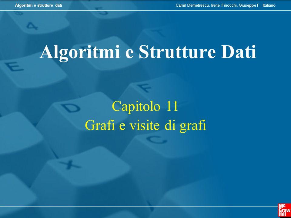 Camil Demetrescu, Irene Finocchi, Giuseppe F. ItalianoAlgoritmi e strutture dati Capitolo 11 Grafi e visite di grafi Algoritmi e Strutture Dati