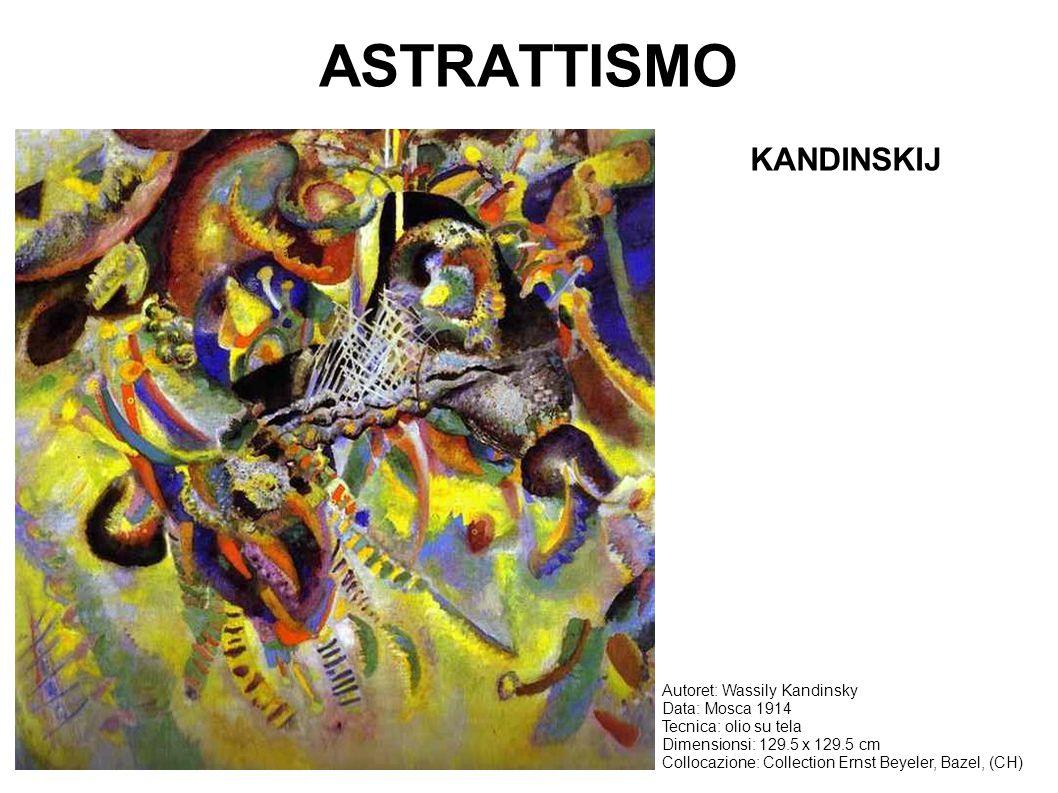 ASTRATTISMO Autoret: Wassily Kandinsky Data: Mosca 1914 Tecnica: olio su tela Dimensionsi: 129.5 x 129.5 cm Collocazione: Collection Ernst Beyeler, Ba