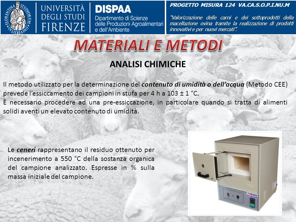 """PROGETTO MISURA 124 VA.CA.S.O.P.I.NU.M """"Valorizzazione delle carni e dei sottoprodotti della macellazione ovina tramite la realizzazione di prodotti i"""