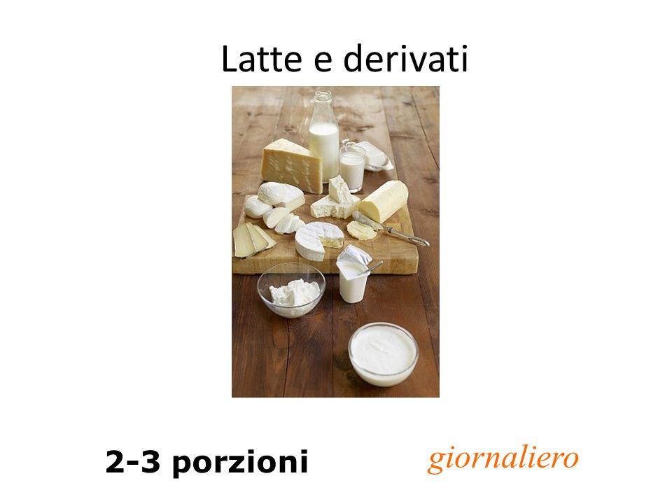 Latte e derivati 2-3 porzioni giornaliero