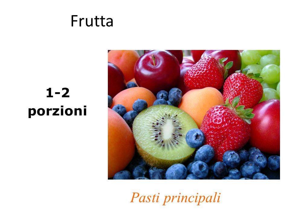 Frutta 1-2 porzioni Pasti principali