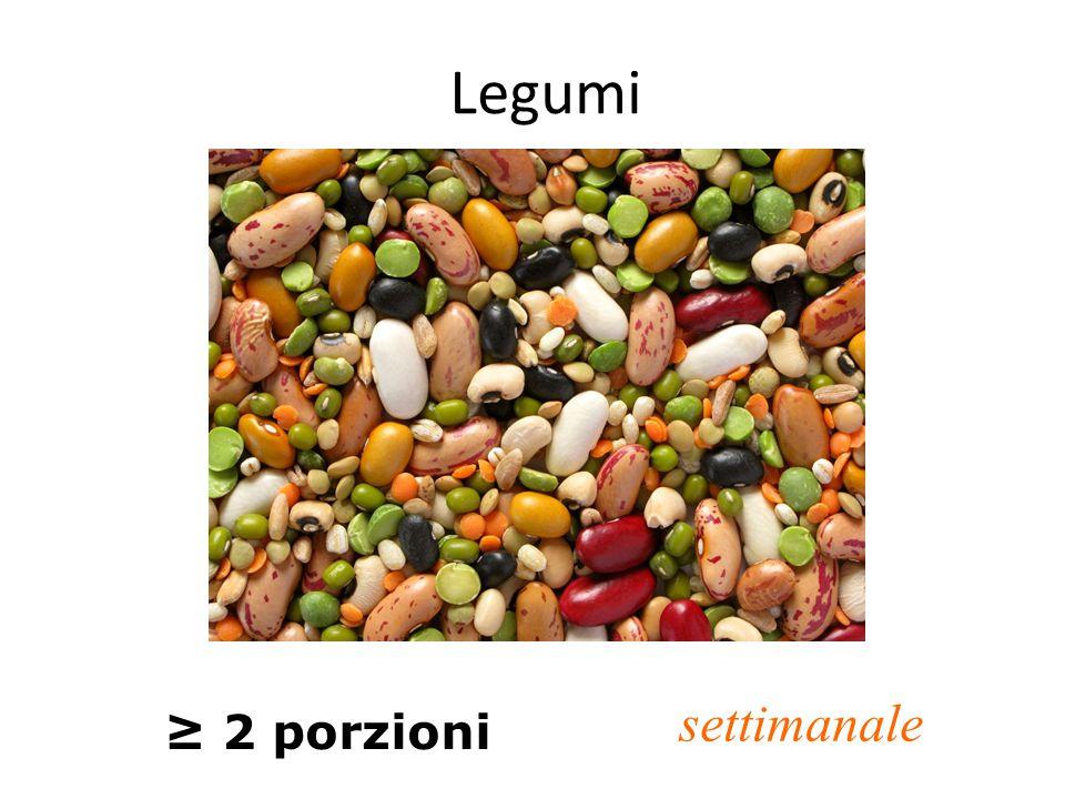 Legumi ≥ 2 porzioni settimanale