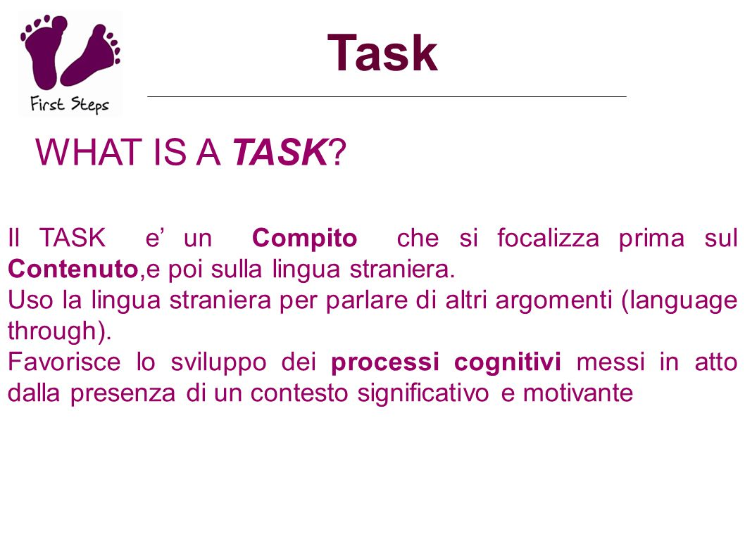 Task What is a TASK like.