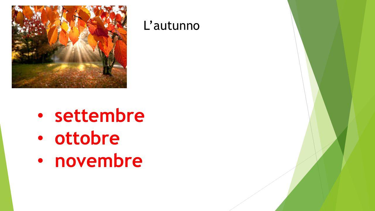 settembre ottobre novembre L'autunno