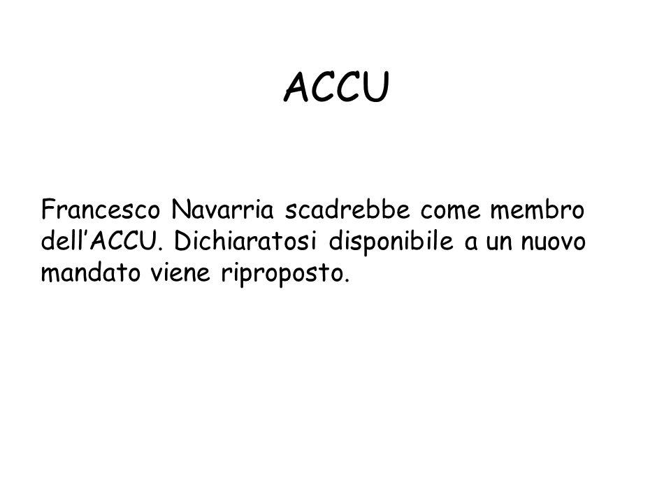 ACCU Francesco Navarria scadrebbe come membro dell'ACCU.