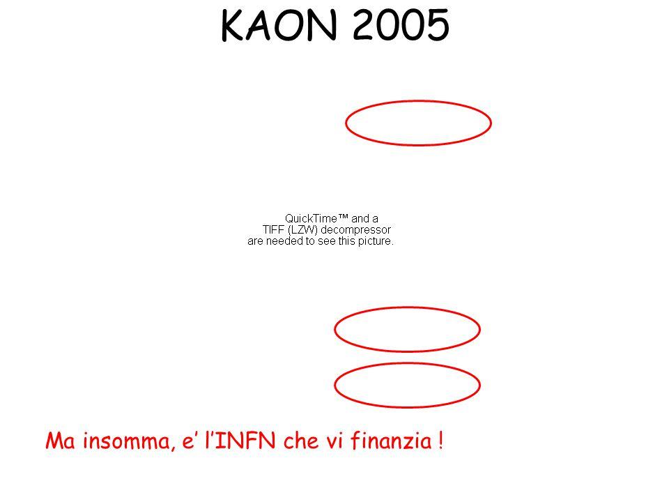 KAON 2005 Ma insomma, e' l'INFN che vi finanzia !