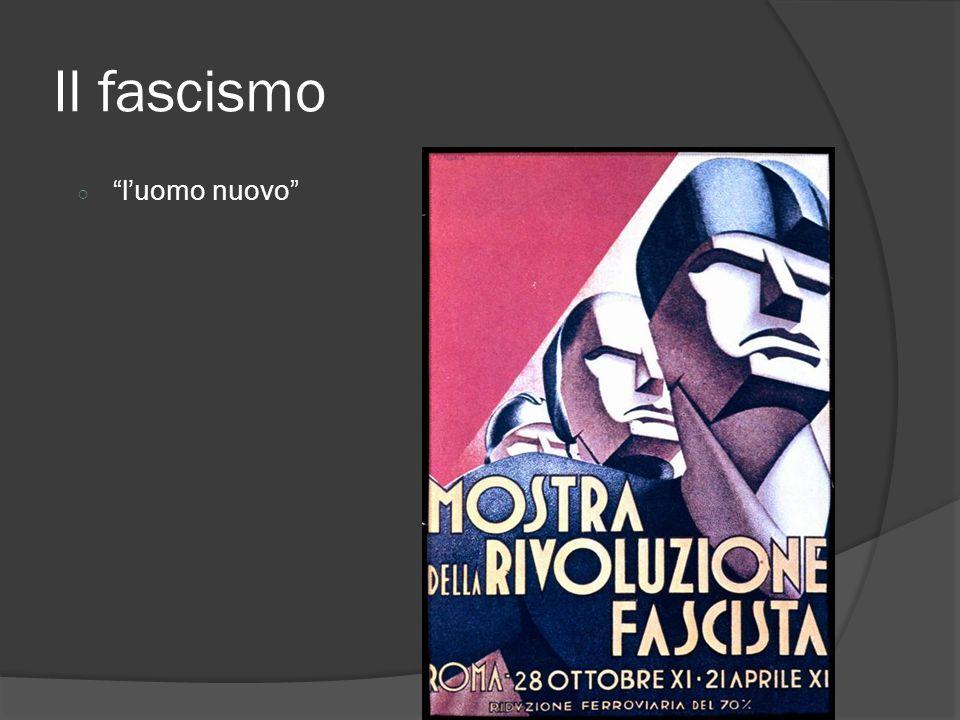 Il fascismo ○ l'uomo nuovo