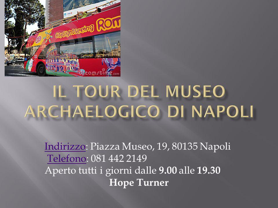 IndirizzoIndirizzo: Piazza Museo, 19, 80135 Napoli Telefono: 081 442 2149Telefono Aperto tutti i giorni dalle 9.00 alle 19.30 Hope Turner