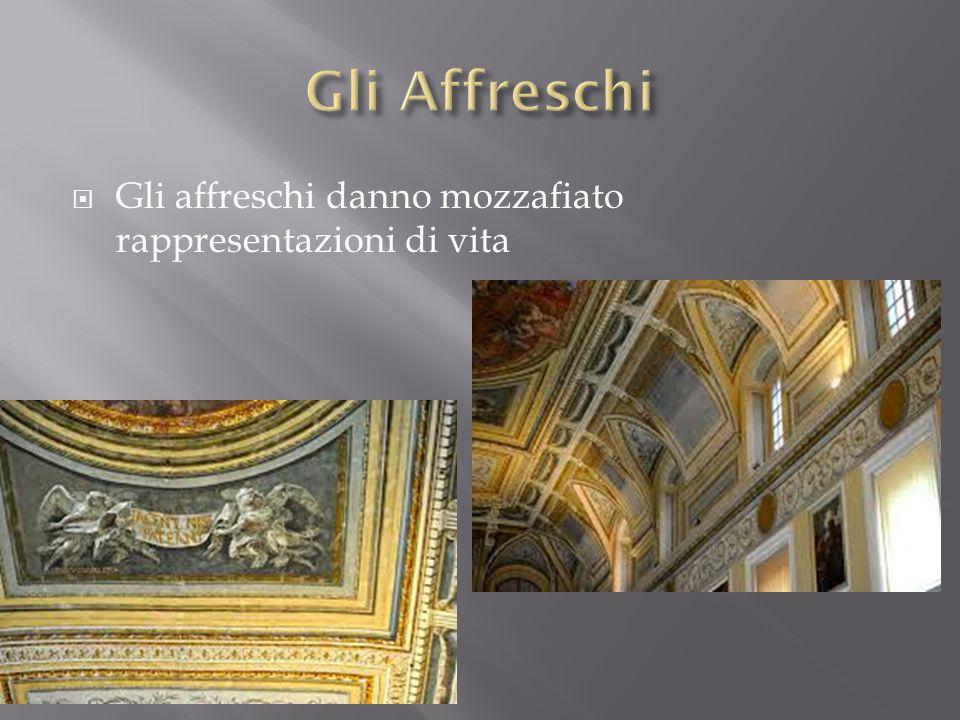  Gli affreschi danno mozzafiato rappresentazioni di vita