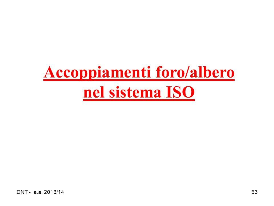 DNT - a.a. 2013/1453 Accoppiamenti foro/albero nel sistema ISO