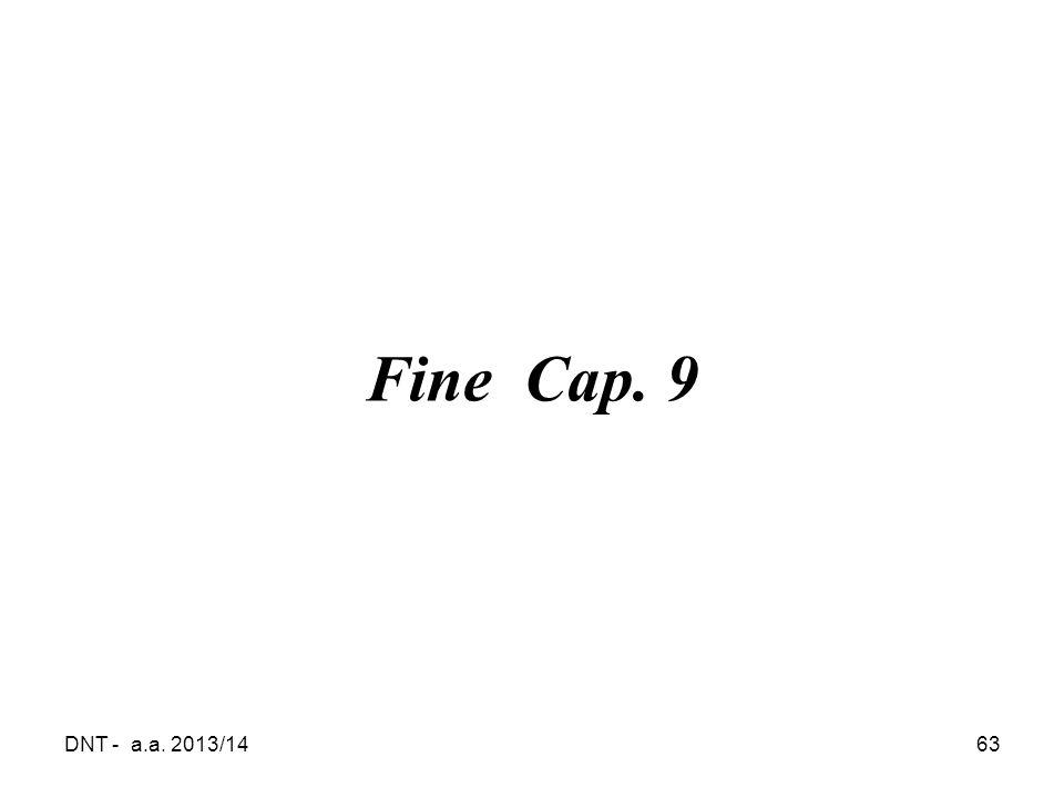 DNT - a.a. 2013/1463 Fine Cap. 9