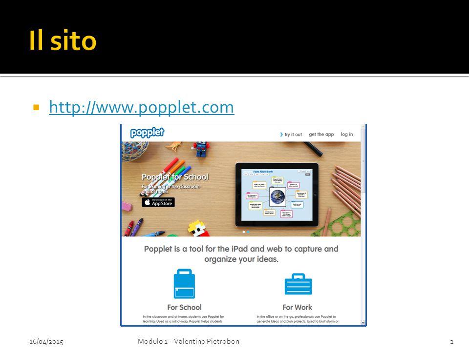  http://www.popplet.com http://www.popplet.com 16/04/2015Modulo 1 – Valentino Pietrobon2