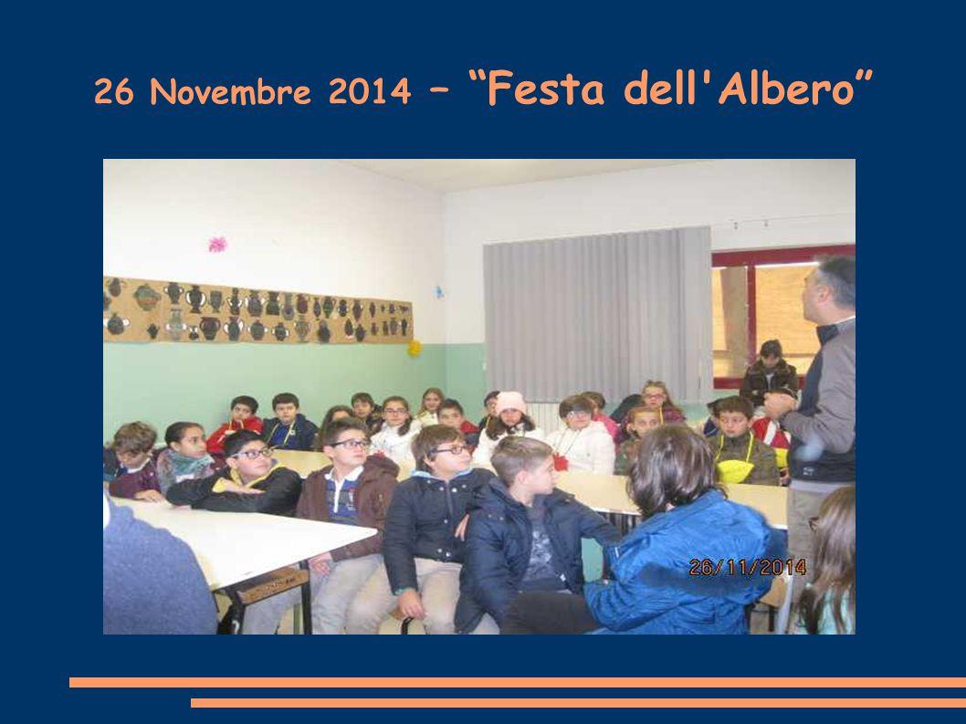 """26 Novembre 2014 – """"Festa dell'Albero"""""""