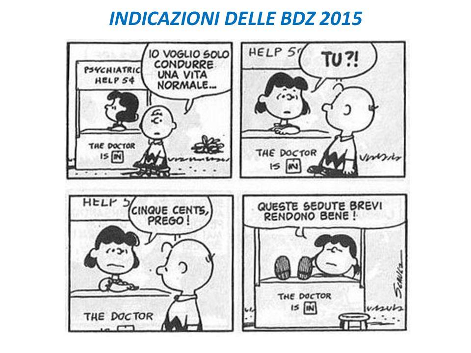 INDICAZIONI DELLE BDZ 2015