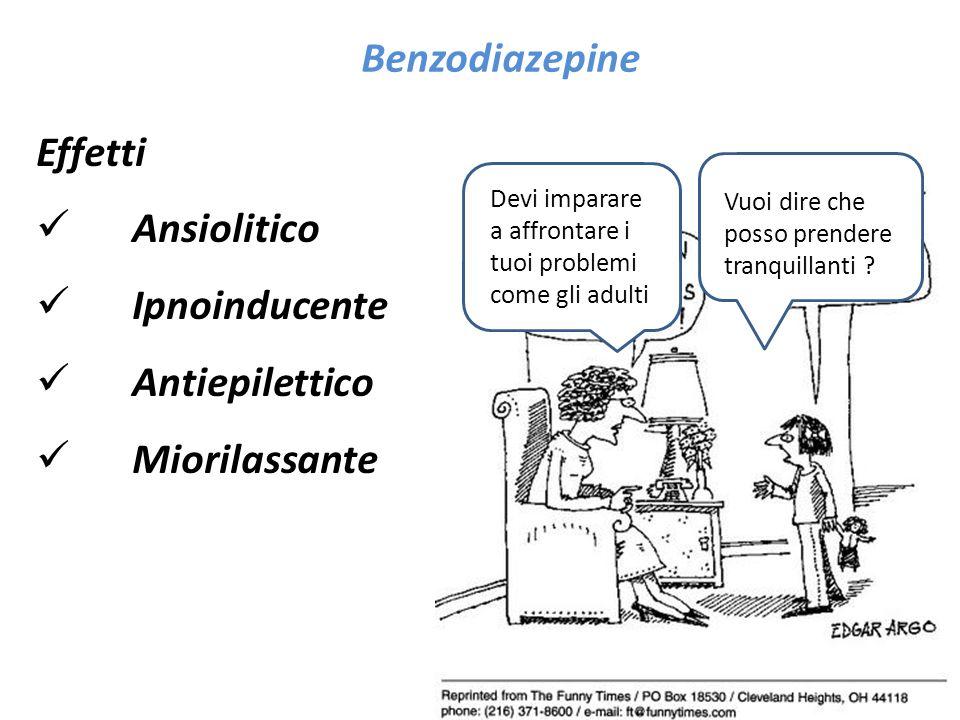 Effetti Ansiolitico Ipnoinducente Antiepilettico Miorilassante Benzodiazepine dD Devi imparare a affrontare i tuoi problemi come gli adulti Vuoi dire che posso prendere tranquillanti ?