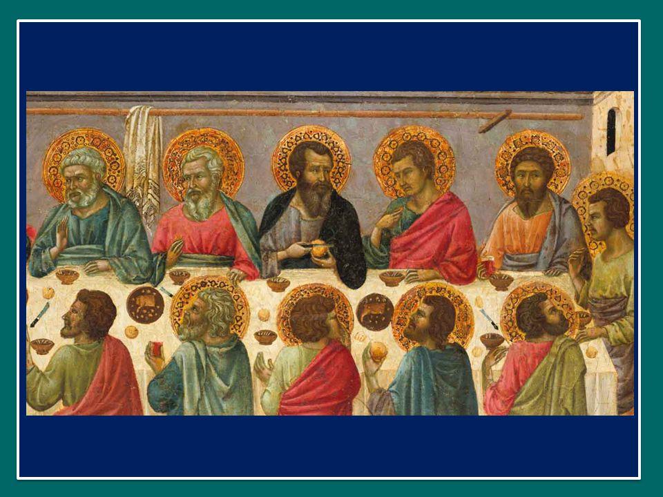 O sacrum convivium in quo Cristus sumitur, O sacro convito, nel quale Cristo diventa nostro cibo, recolitur memoria passionis eius; si perpetua il memoriale della sua passione;