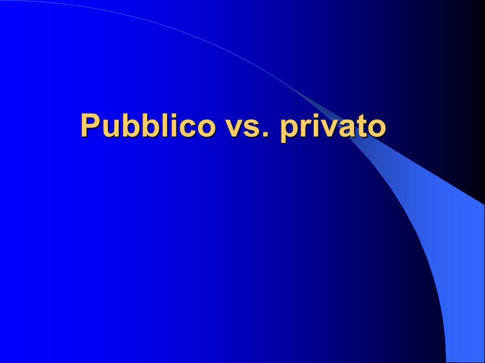 Pubblico vs. privato