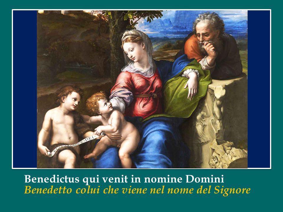 Benedictus qui venit in nomine Domini Benedetto colui che viene nel nome del Signore