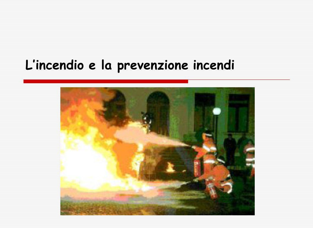 L'incendio e la prevenzione incendi