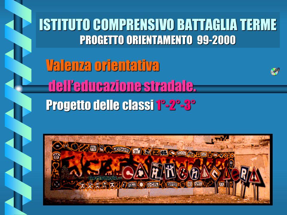 ISTITUTO COMPRENSIVO BATTAGLIA TERME PROGETTO ORIENTAMENTO 99-2000 Valenza orientativa dell'educazione stradale.
