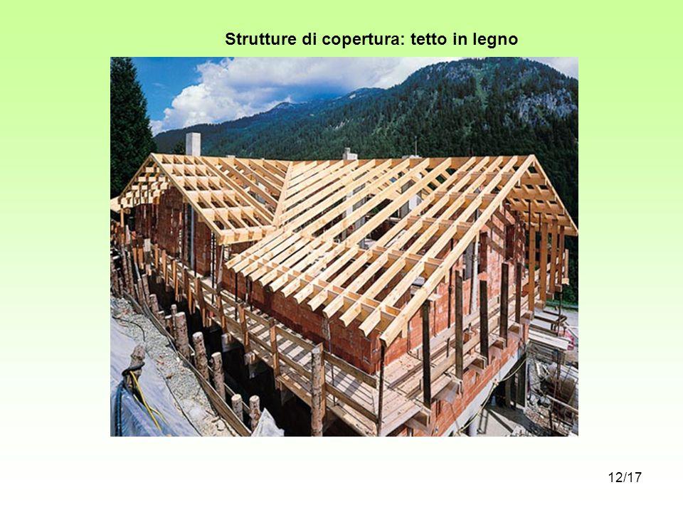 Strutture di copertura: tetto in legno 12/17