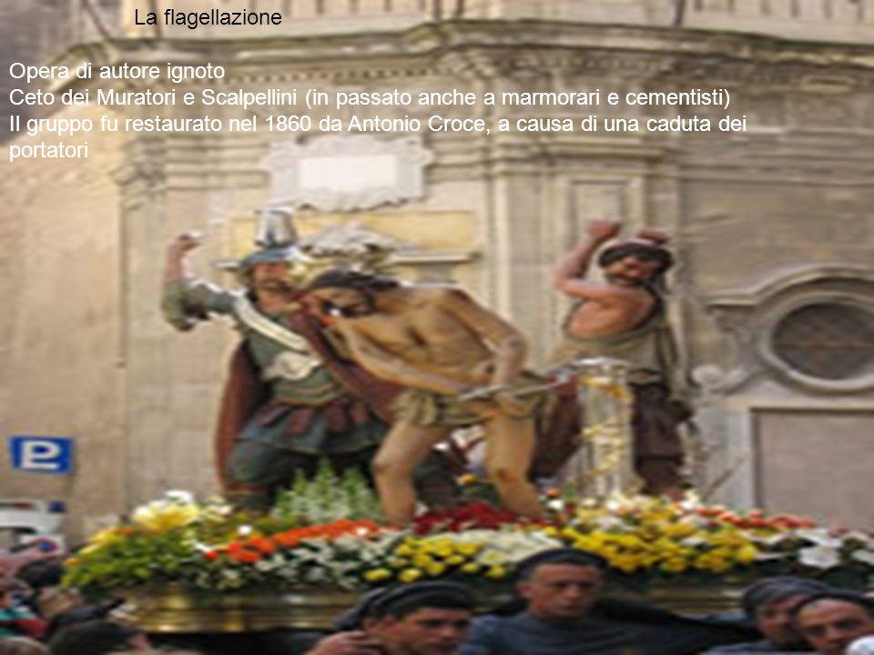 Opera di autore ignoto Ceto dei Muratori e Scalpellini (in passato anche a marmorari e cementisti) Il gruppo fu restaurato nel 1860 da Antonio Croce,