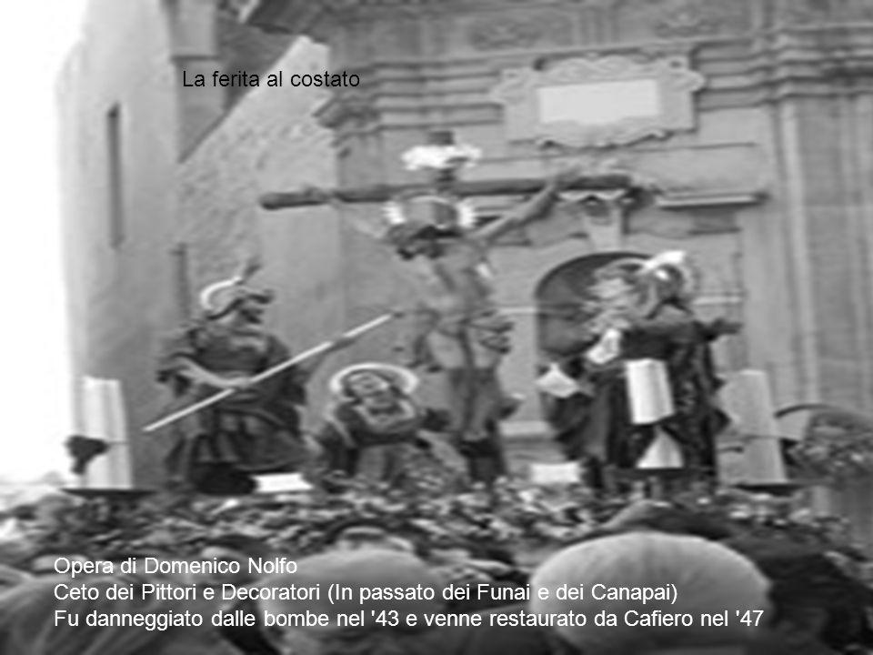 Opera di Domenico Nolfo Ceto dei Pittori e Decoratori (In passato dei Funai e dei Canapai) Fu danneggiato dalle bombe nel '43 e venne restaurato da Ca