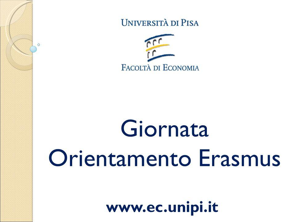 Giornata Orientamento Erasmus www.ec.unipi.it