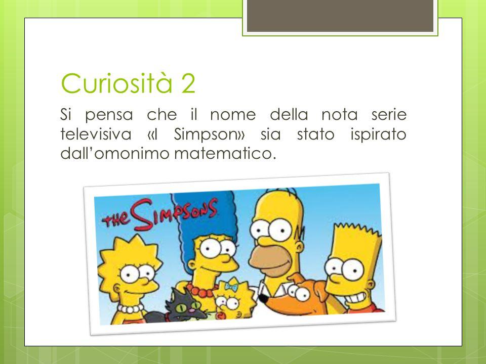 Curiosità 2 Si pensa che il nome della nota serie televisiva «I Simpson» sia stato ispirato dall'omonimo matematico.