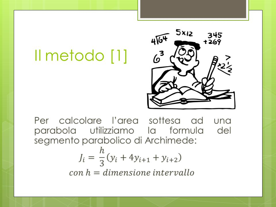 Il metodo [1]