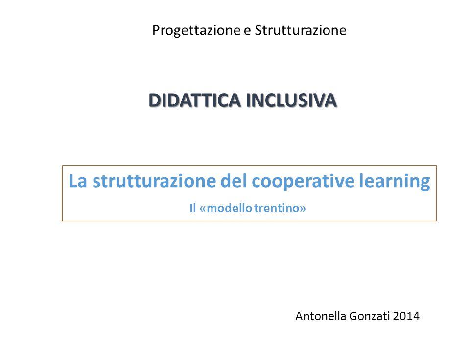DIDATTICA INCLUSIVA Progettazione e Strutturazione La strutturazione del cooperative learning Il «modello trentino» Antonella Gonzati 2014