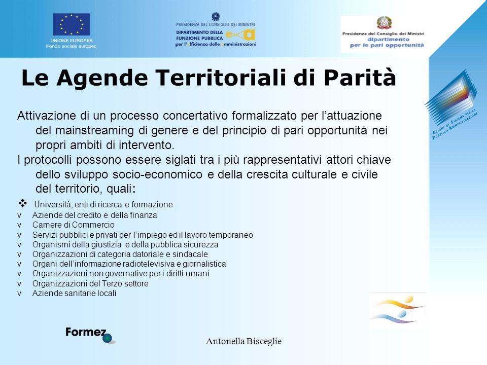 Antonella Bisceglie Le Agende Territoriali di Parità Attivazione di un processo concertativo formalizzato per l'attuazione del mainstreaming di genere