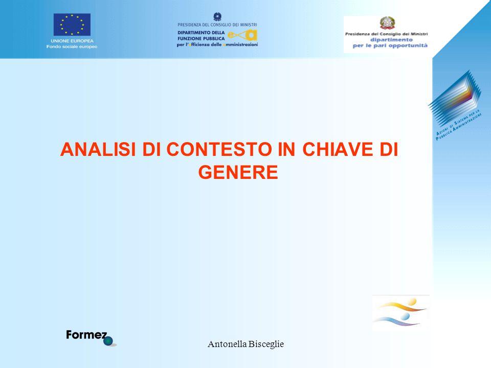 Antonella Bisceglie ANALISI DI CONTESTO IN CHIAVE DI GENERE