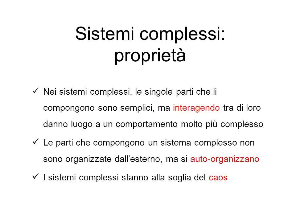 Nei sistemi complessi, le singole parti che li compongono sono semplici, ma interagendo tra di loro danno luogo a un comportamento molto più complesso