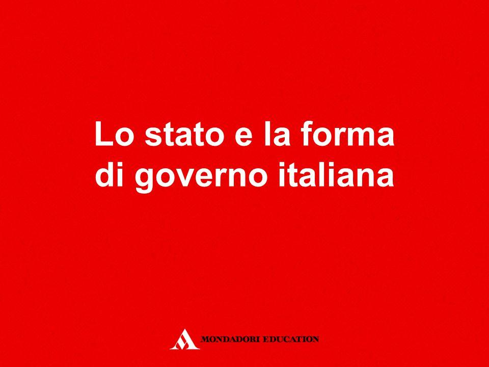 Lo stato e la forma di governo italiana